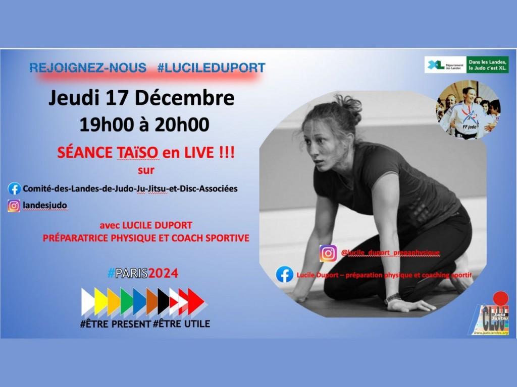 Image de l'actu '2nde séance taïso avec Lucile Duport ce jeudi 17/12'