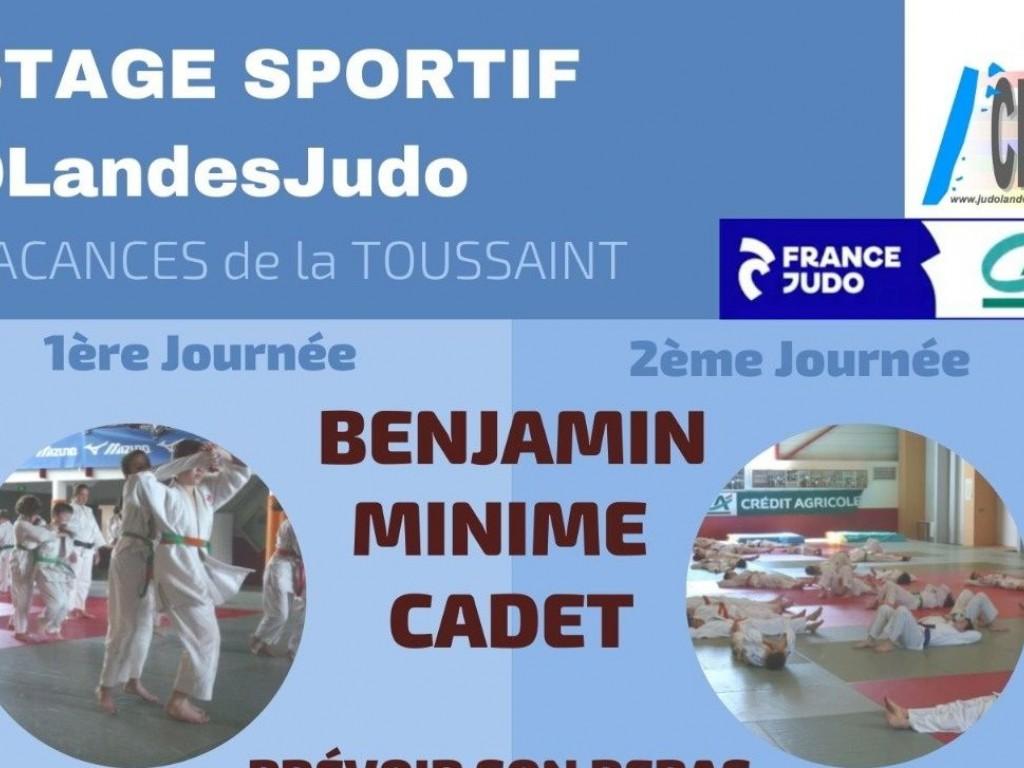 Image de l'actu 'STAGE SPORTIF @LandesJudo Benjamins, Minimes, Cadets'