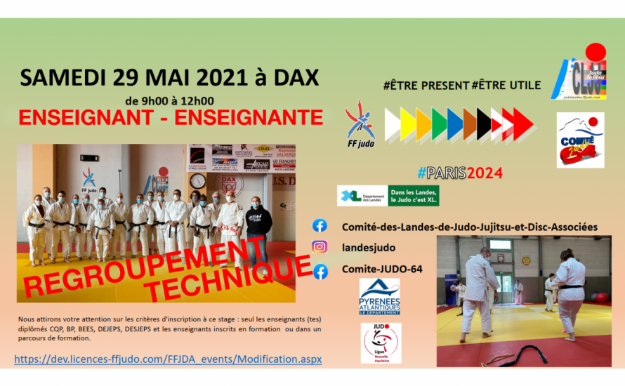 STAGE ENSEIGNANT #CLJJ FORMATION CONTINUE DES ENSEIGNANTS ENSEIGNANTES - Le 29 MAI 2021