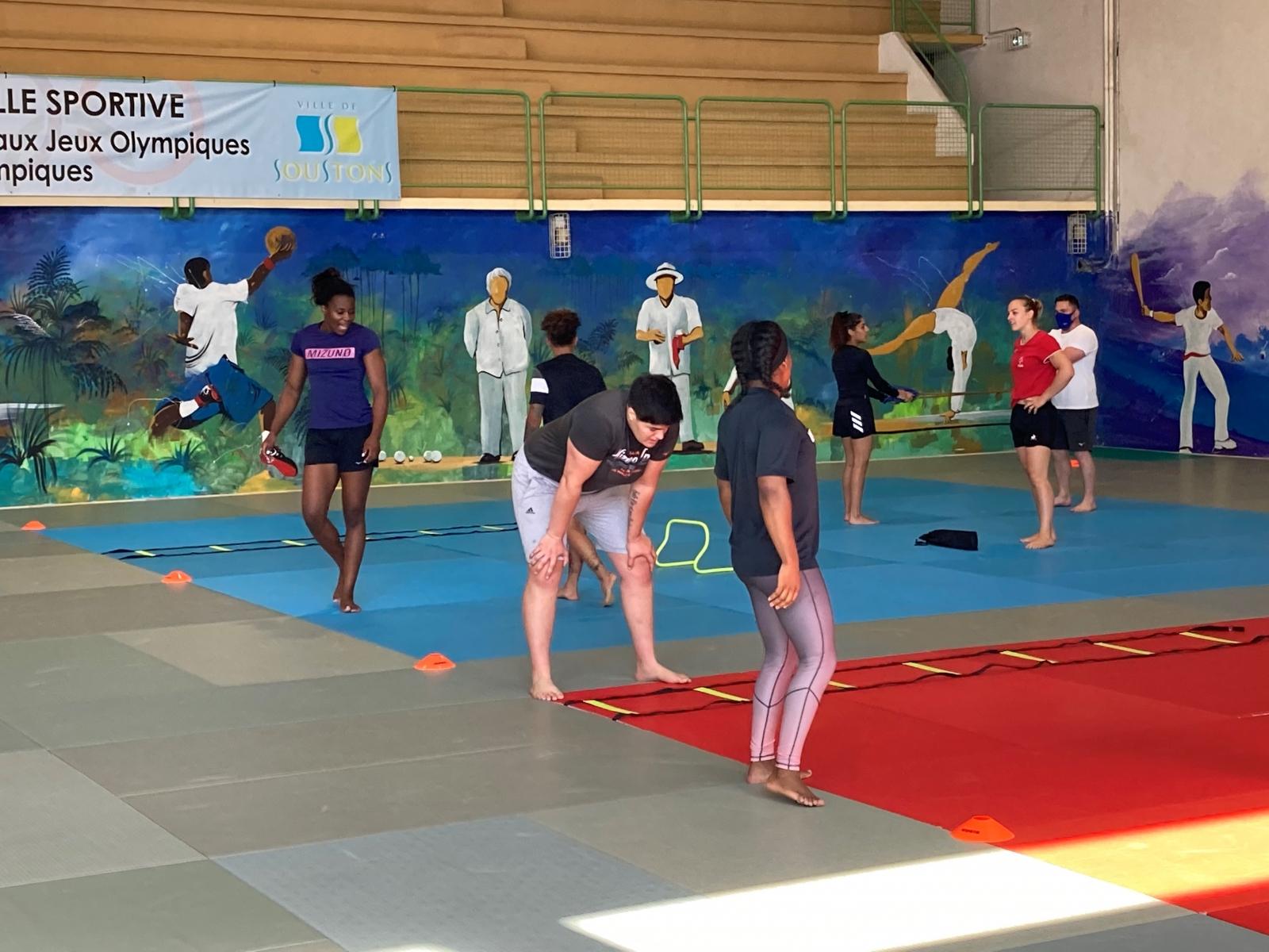 Equipe de France féminine à Soustons avant les JO de Tokyo 2021